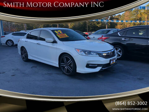 2017 Honda Accord for sale at Smith Motor Company INC in Mc Cormick SC