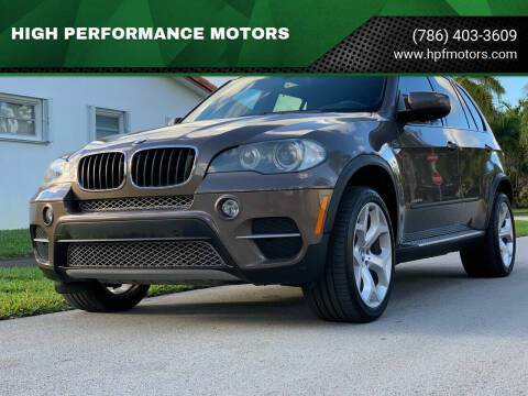 2012 BMW X5 for sale at HIGH PERFORMANCE MOTORS in Hollywood FL