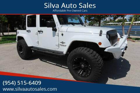 2013 Jeep Wrangler Unlimited for sale at Silva Auto Sales in Pompano Beach FL