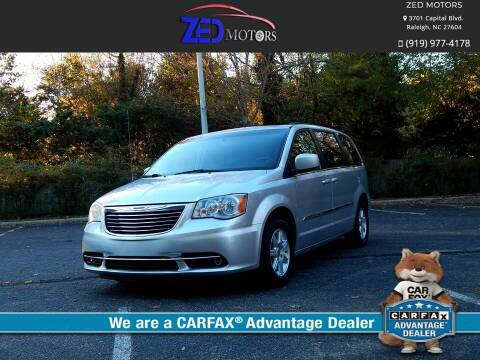 2012 Chrysler Town and Country for sale at Zed Motors in Raleigh NC