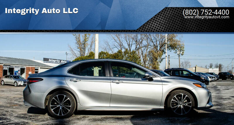 2018 Toyota Camry for sale at Integrity Auto LLC - Integrity Auto 2.0 in St. Albans VT