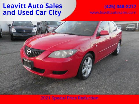 2005 Mazda MAZDA3 for sale at Leavitt Auto Sales and Used Car City in Everett WA