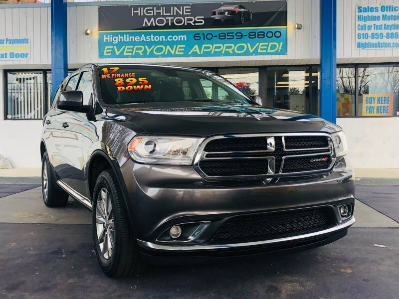 2017 Dodge Durango for sale at Highline Motors in Aston PA