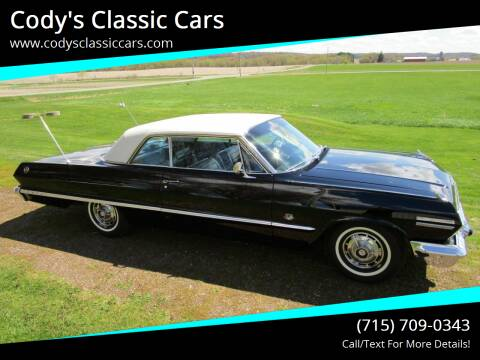 1963 Chevrolet Impala for sale at Cody's Classic Cars in Stanley WI