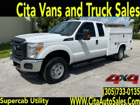 2015 FORD F250 SD SUPERCAB 4X4 UTILITY TRUCK for sale at Cita Auto Sales in Medley FL