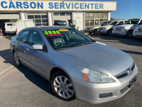 2007 Honda Accord for sale at Carson Servicenter in Carson City NV