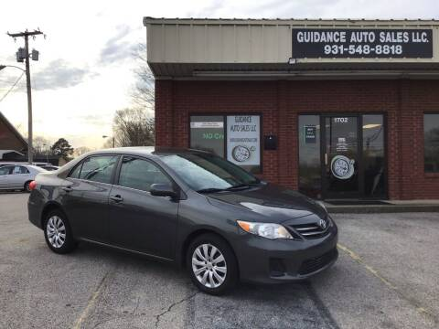 2013 Toyota Corolla for sale at Guidance Auto Sales LLC in Columbia TN