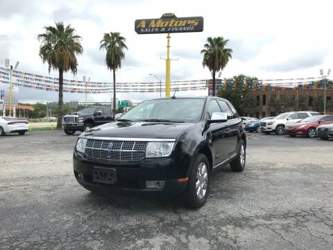 2008 Lincoln MKX for sale at A MOTORS SALES AND FINANCE in San Antonio TX