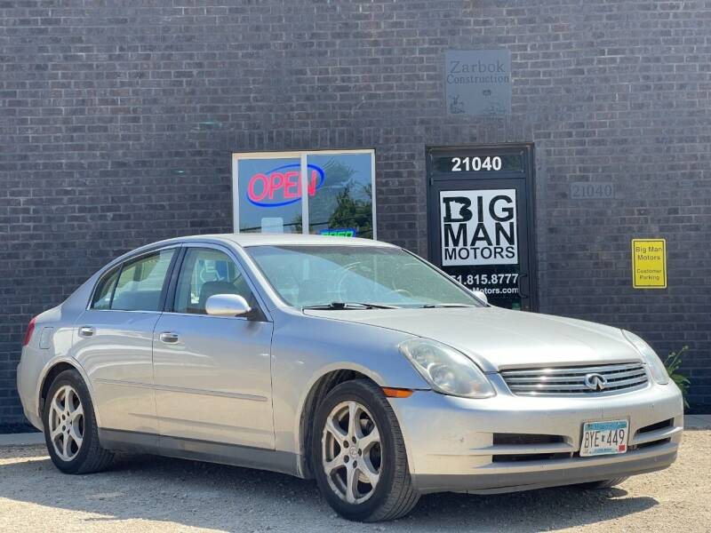 2003 Infiniti G35 for sale at Big Man Motors in Farmington MN