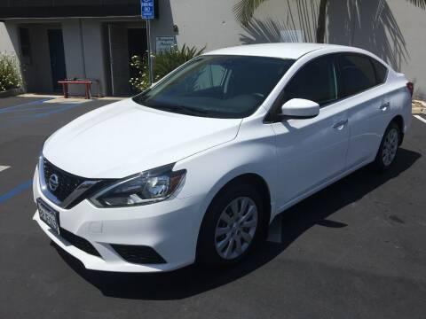 2017 Nissan Sentra for sale at MANGIONE MOTORS ORANGE COUNTY in Costa Mesa CA
