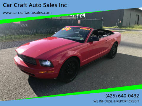 2006 Ford Mustang for sale at Car Craft Auto Sales Inc in Lynnwood WA