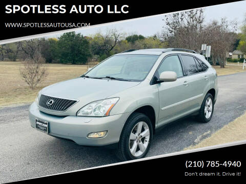 2005 Lexus RX 330 for sale at SPOTLESS AUTO LLC in San Antonio TX