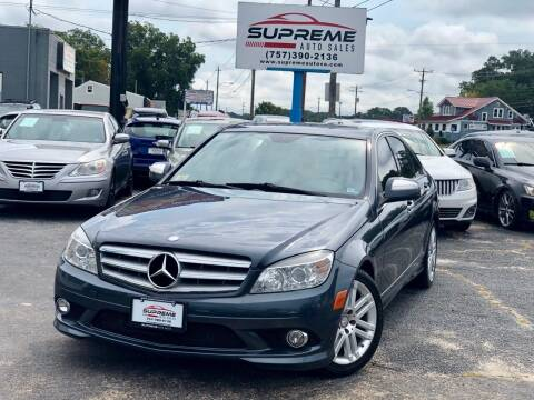 2009 Mercedes-Benz C-Class for sale at Supreme Auto Sales in Chesapeake VA