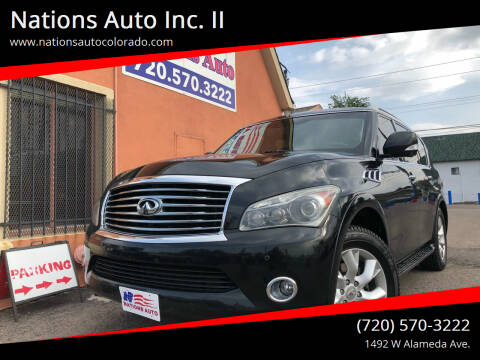2011 Infiniti QX56 for sale at Nations Auto Inc. II in Denver CO