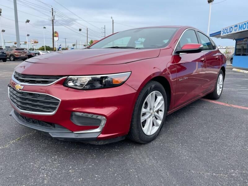 2018 Chevrolet Malibu for sale at SOLID MOTORS LLC in Garland TX