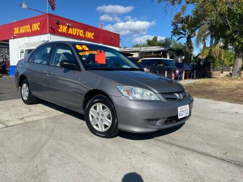 2005 Honda Civic for sale at 3K Auto in Escondido CA