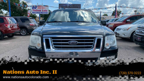 2010 Ford Explorer for sale at Nations Auto Inc. II in Denver CO