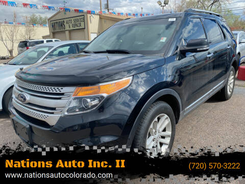 2014 Ford Explorer for sale at Nations Auto Inc. II in Denver CO