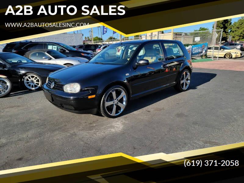2001 Volkswagen GTI for sale at A2B AUTO SALES in Chula Vista CA