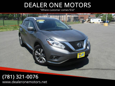 2015 Nissan Murano for sale at DEALER ONE MOTORS in Malden MA