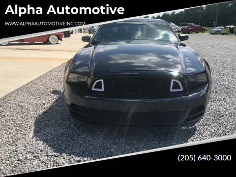 2013 Ford Mustang for sale at Alpha Automotive in Odenville AL