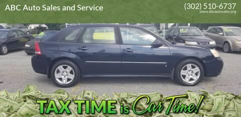 2006 Chevrolet Malibu Maxx for sale at ABC Auto Sales and Service in New Castle DE