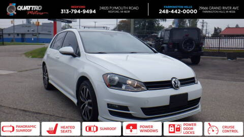 2015 Volkswagen Golf for sale at Quattro Motors 2 - 1 in Redford MI