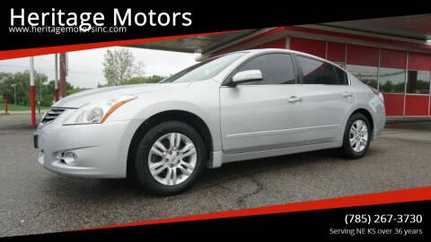 2012 Nissan Altima for sale at Heritage Motors in Topeka KS