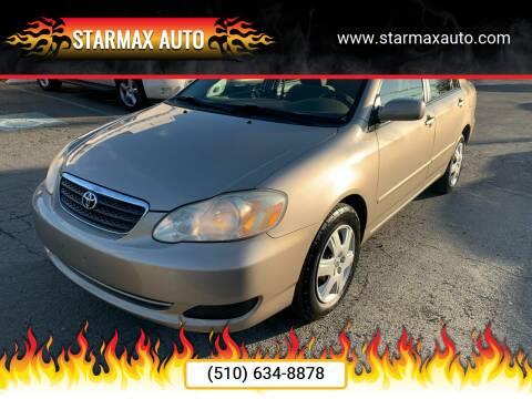 2006 Toyota Corolla for sale at StarMax Auto in Fremont CA