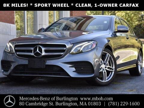 2017 Mercedes-Benz E-Class for sale at Mercedes Benz of Burlington in Burlington MA