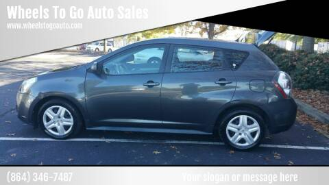 2009 Pontiac Vibe for sale at Wheels To Go Auto Sales in Greenville SC