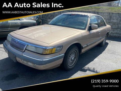 1992 Mercury Grand Marquis for sale at AA Auto Sales Inc. in Gary IN