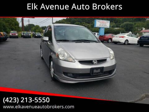 2007 Honda Fit for sale at Elk Avenue Auto Brokers in Elizabethton TN