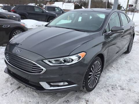 2017 Ford Fusion for sale at One Price Auto in Mount Clemens MI