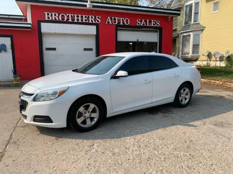 2015 Chevrolet Malibu for sale at BROTHERS AUTO SALES in Hampton IA
