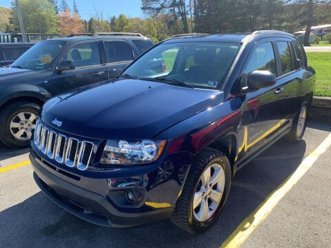 2017 Jeep Compass for sale at BURNWORTH AUTO INC in Windber PA