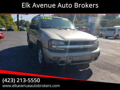 2002 Chevrolet TrailBlazer for sale at Elk Avenue Auto Brokers in Elizabethton TN
