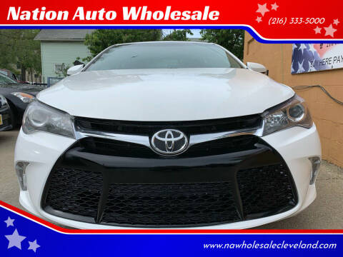 2015 Toyota Camry for sale at Nation Auto Wholesale in Cleveland OH