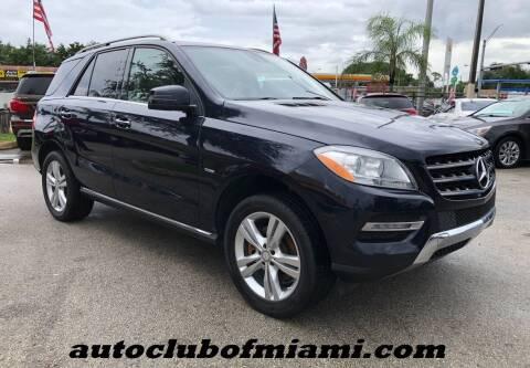2012 Mercedes-Benz M-Class for sale at AUTO CLUB OF MIAMI, INC in Miami FL
