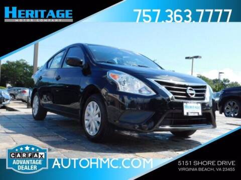 2017 Nissan Versa for sale at Heritage Motor Company in Virginia Beach VA
