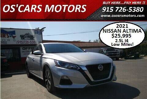 2021 Nissan Altima for sale at Os'Cars Motors in El Paso TX