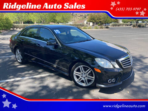 2010 Mercedes-Benz E-Class for sale at Ridgeline Auto Sales in Saint George UT