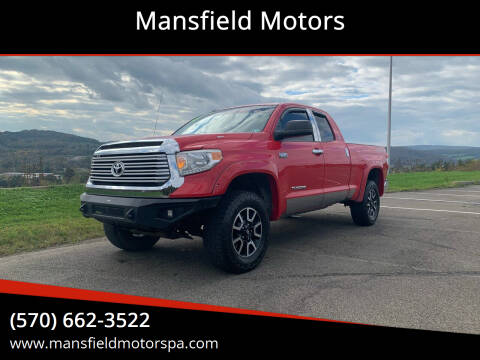 2015 Toyota Tundra for sale at Mansfield Motors in Mansfield PA