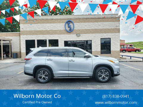 2016 Toyota Highlander for sale at Wilborn Motor Co in Fort Worth TX