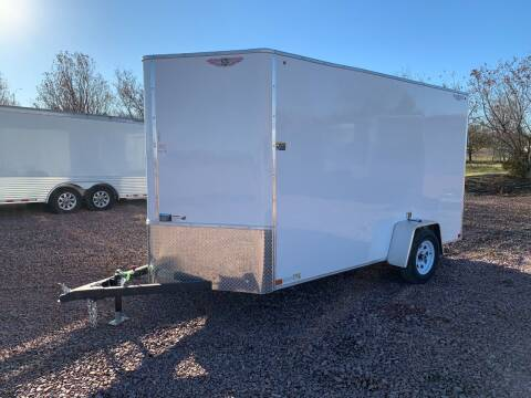 2021 H&H Flat Top V-Nose Cargo #6741 for sale at Prairie Wind Trailers, LLC in Harrisburg SD