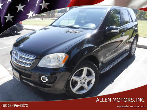2008 Mercedes-Benz M-Class for sale at Allen Motors, Inc. in Thousand Oaks CA