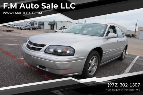 2005 Chevrolet Impala for sale at F.M Auto Sale LLC in Dallas TX