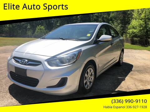 2012 Hyundai Accent for sale at Elite Auto Sports LLC in Wilkesboro NC