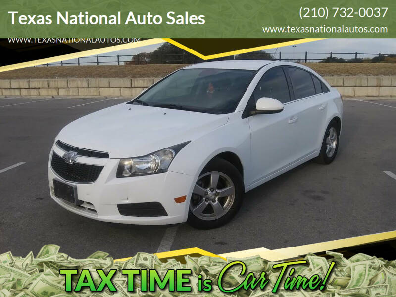 2014 Chevrolet Cruze for sale at Texas National Auto Sales in San Antonio TX
