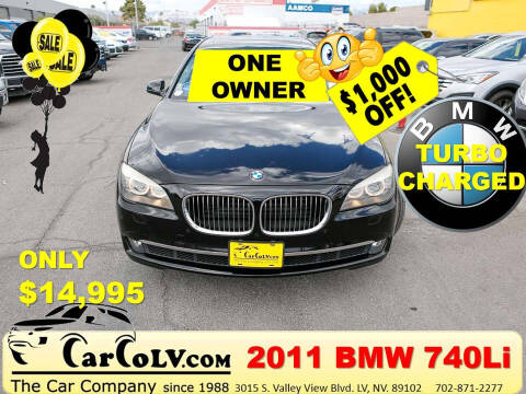 2011 BMW 7 Series for sale at The Car Company in Las Vegas NV